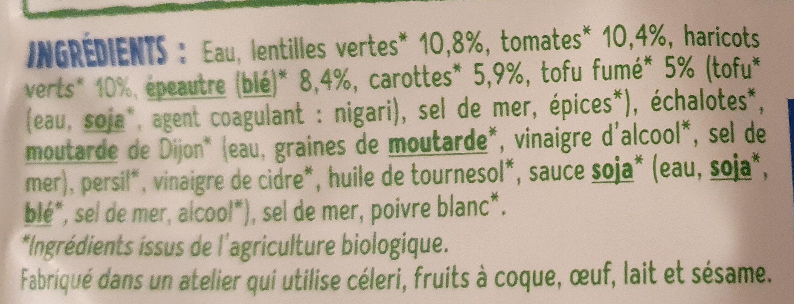 Lentilles et épeautre - Ingredients - fr