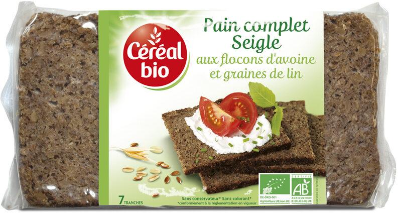 Pain complet Seigle aux flocons d'avoine & graines de lin - Producto - fr