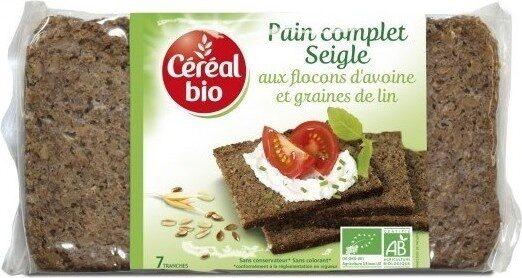 Pain complet de seigle aux flocons d'avoine et graines de lin - Prodotto - fr