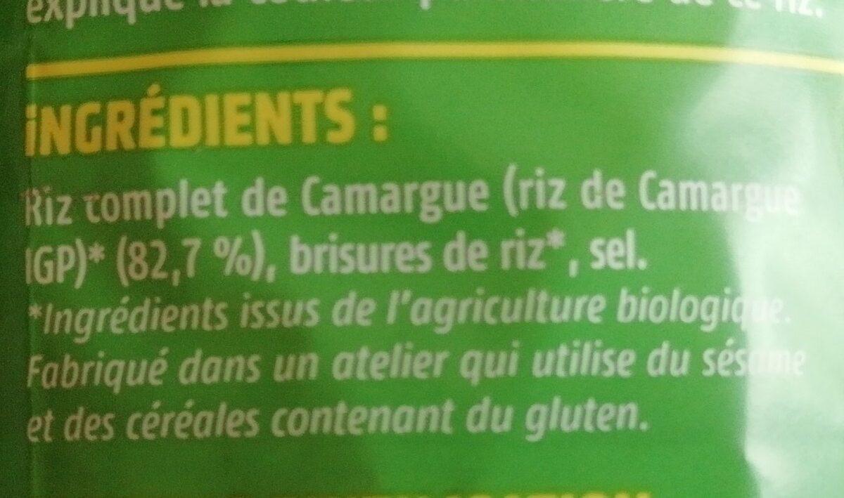 Galette de riz complet nature - Ingredients - fr
