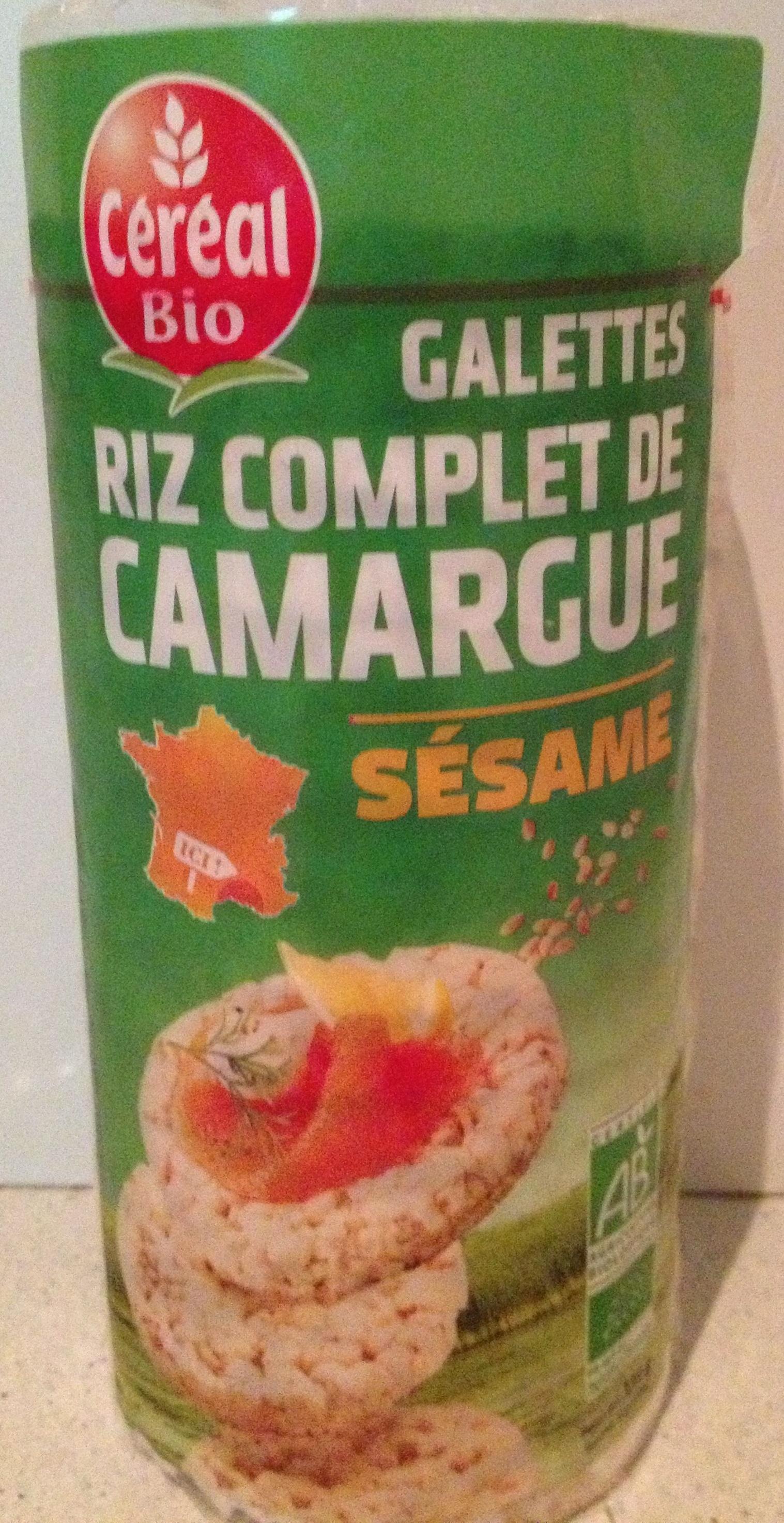 Galettes Riz complet de Camargue au sésame - Product