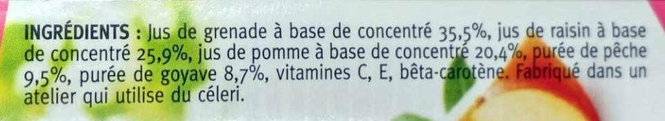 Grenade et sélection de fruits - Ingrédients - fr