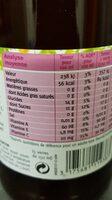 Cranberry et sélection de fruits - Informations nutritionnelles - fr