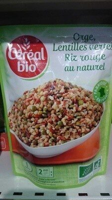 Orge, lentilles vertes, riz rouge au naturel - Product - fr