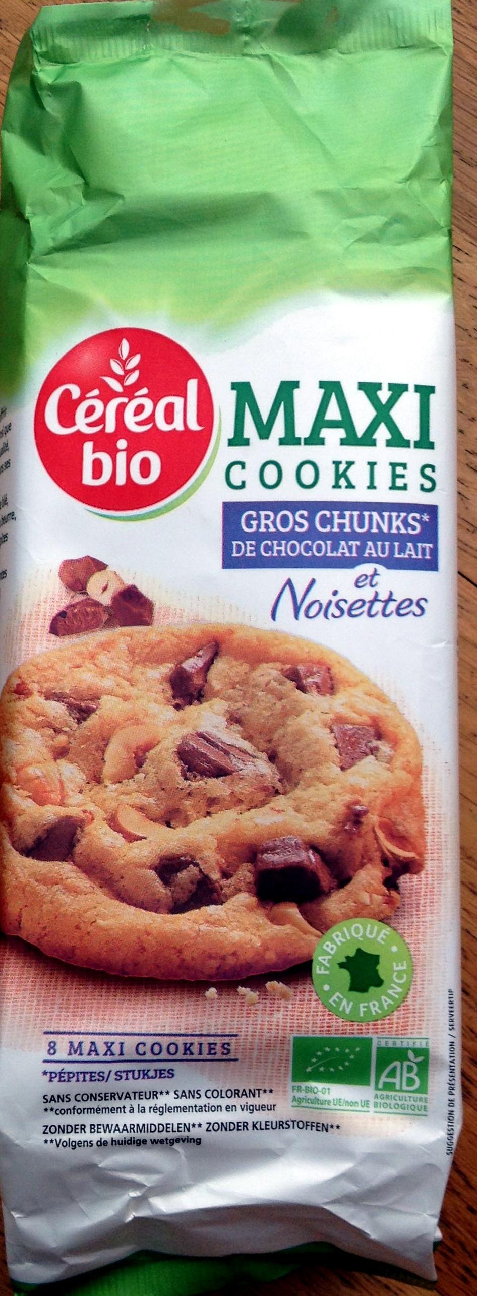 maxi cookies gros chunks de chocolat au lait et noisettes - Product - fr