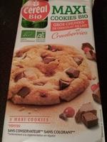 Maxi Cookies Bio Chocolat au lait et cranberries - Product