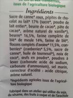 Maxi Cookies Bio Chocolat au lait et cranberries - Ingrediënten