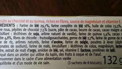 Biscuit quinoa cacao - Ingredients