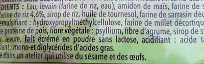Pain campagnard Gerblé sans gluten - Ingrédients - fr