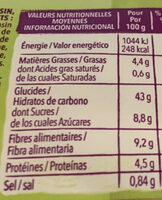 Pain campagnard Gerblé sans gluten - Informations nutritionnelles - fr