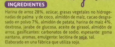 Biscuit cacaoté - Ingredientes - es