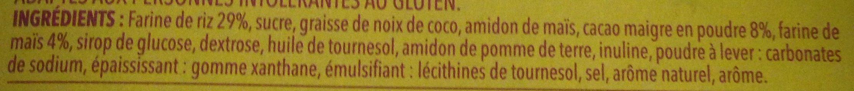 Biscuit cacaoté sans gluten - Ingredients - fr