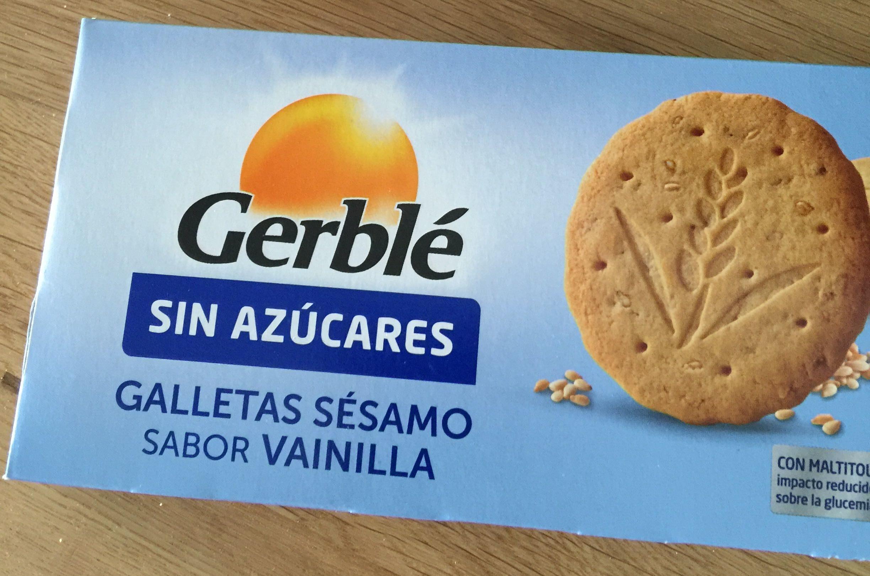 Galleta sésamo sabor vainilla sin azúcares - Producto