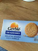 Gerblé Galleta Sésamo Sin Azúcar Sabor Vainilla - Producte