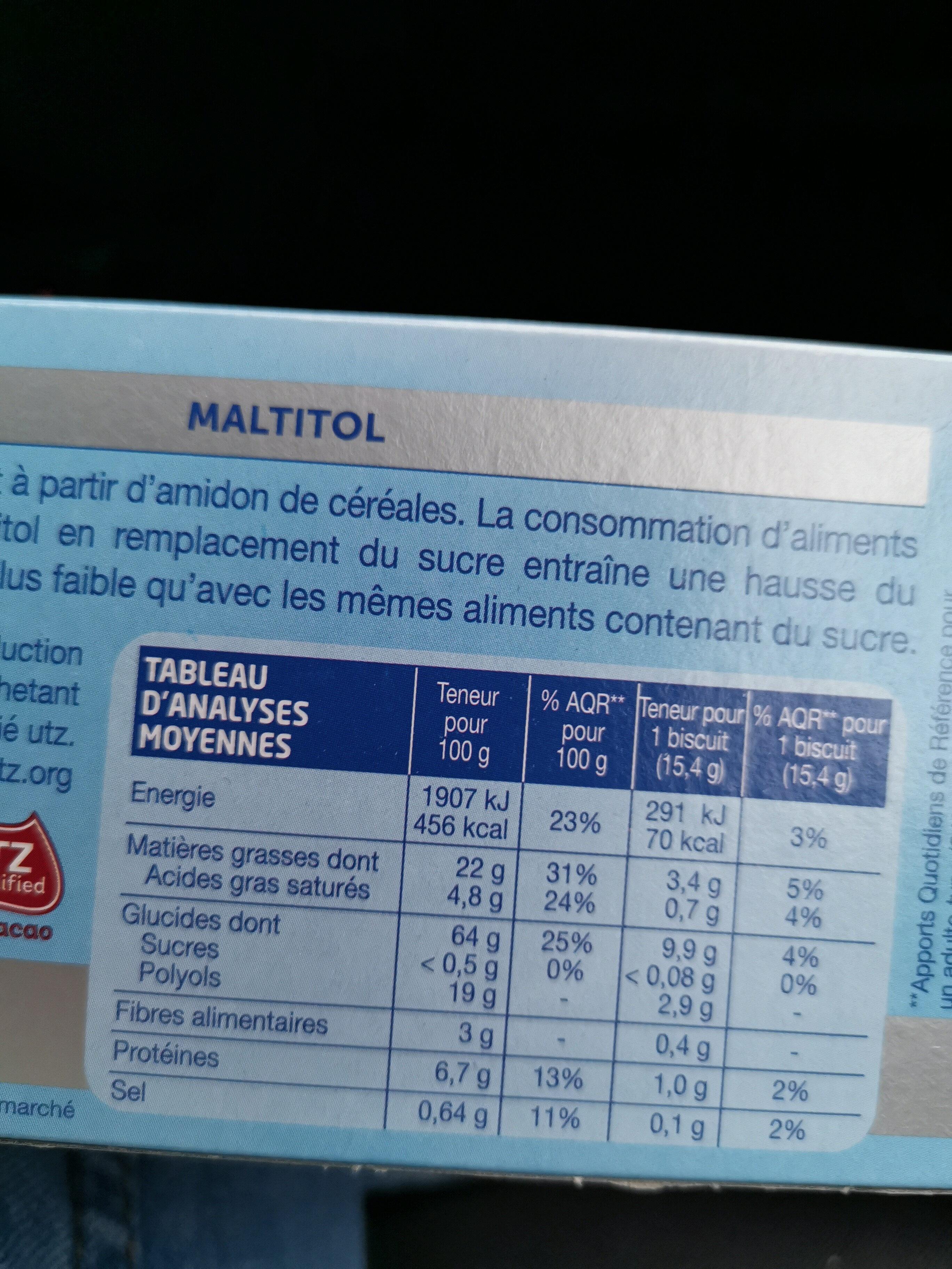Fourré Cacao sans sucres - Product - en