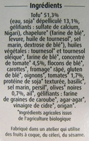 Crousti Panés Tomates, Olives Céréal Bio - Ingrédients - fr