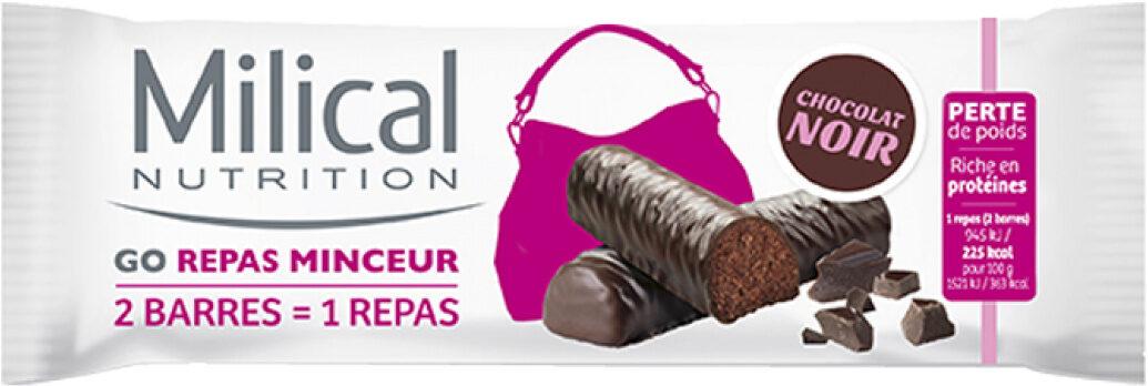 Milical Go Repas Minceur, 2 Barres Chocolat Noir - Produit - fr