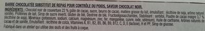 Barres chocolat noir intense - Inhaltsstoffe - fr