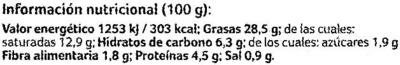 Pate vegetal bio - Informació nutricional - es