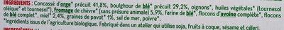 Les galettes orge et boulgour au chèvre et miel - Ingredientes - fr