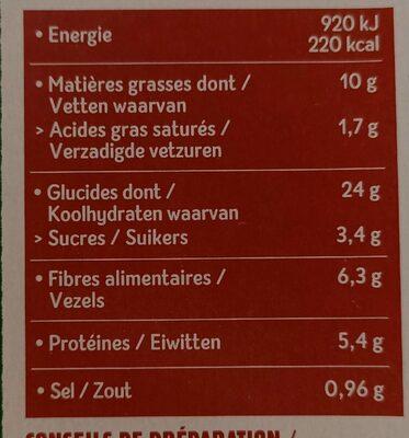 Galettes orge et boulgour au chèvre et miel - Voedingswaarden - fr