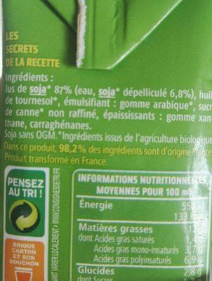 Soja du sud-ouest spécial cuisine - Ingredients - fr