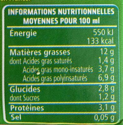 Soja du sud-ouest spécial cuisine - Nutrition facts - fr