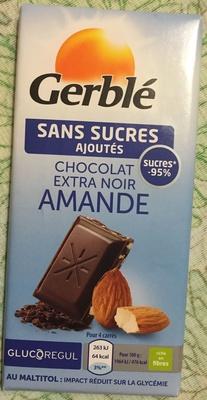 Chocolat Extra Noir Amande Sans Sucres Ajoutés - Produit