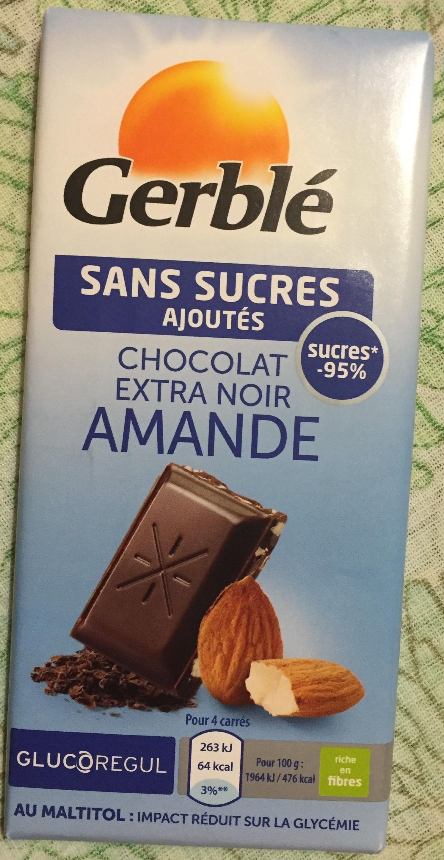 Chocolat extra noir amande - Product - fr