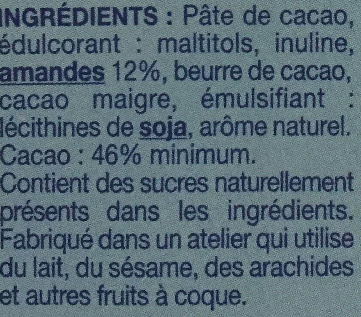 Chocolat extra noir amande - Ingrediënten - fr