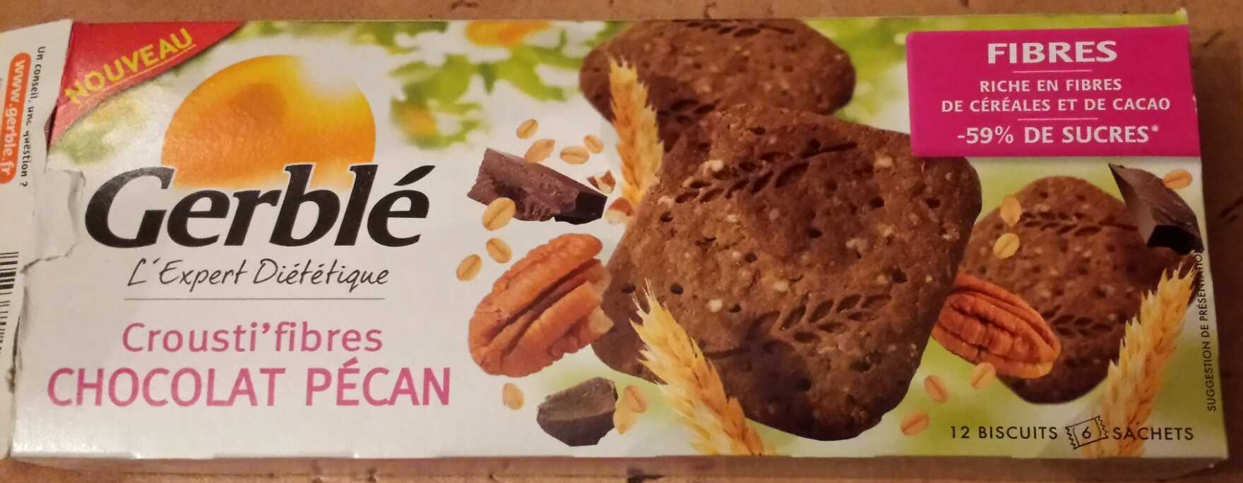 Crousti'fibres chocolat pécan - Product - fr