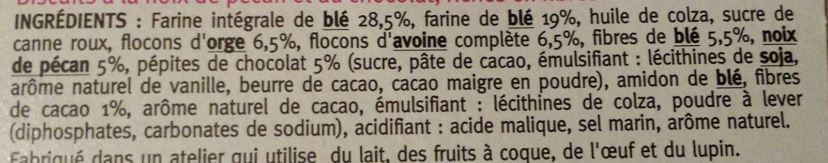 Crousti'fibres chocolat pécan - Ingredients - fr
