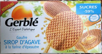 Gaufre Sirop d'Agave à la farine d'épeautre - Produit
