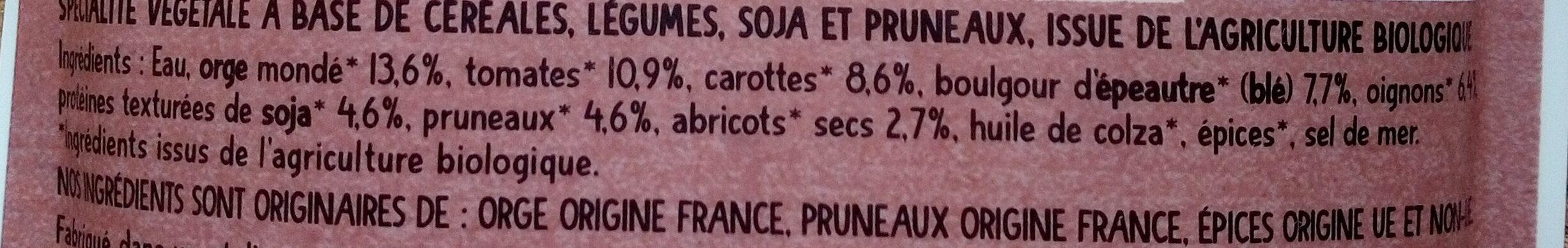 Orge et pruneaux à la Marocaine - Ingredienti - fr