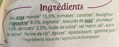 Orge et pruneaux à la marocaine - Ingrédients - fr