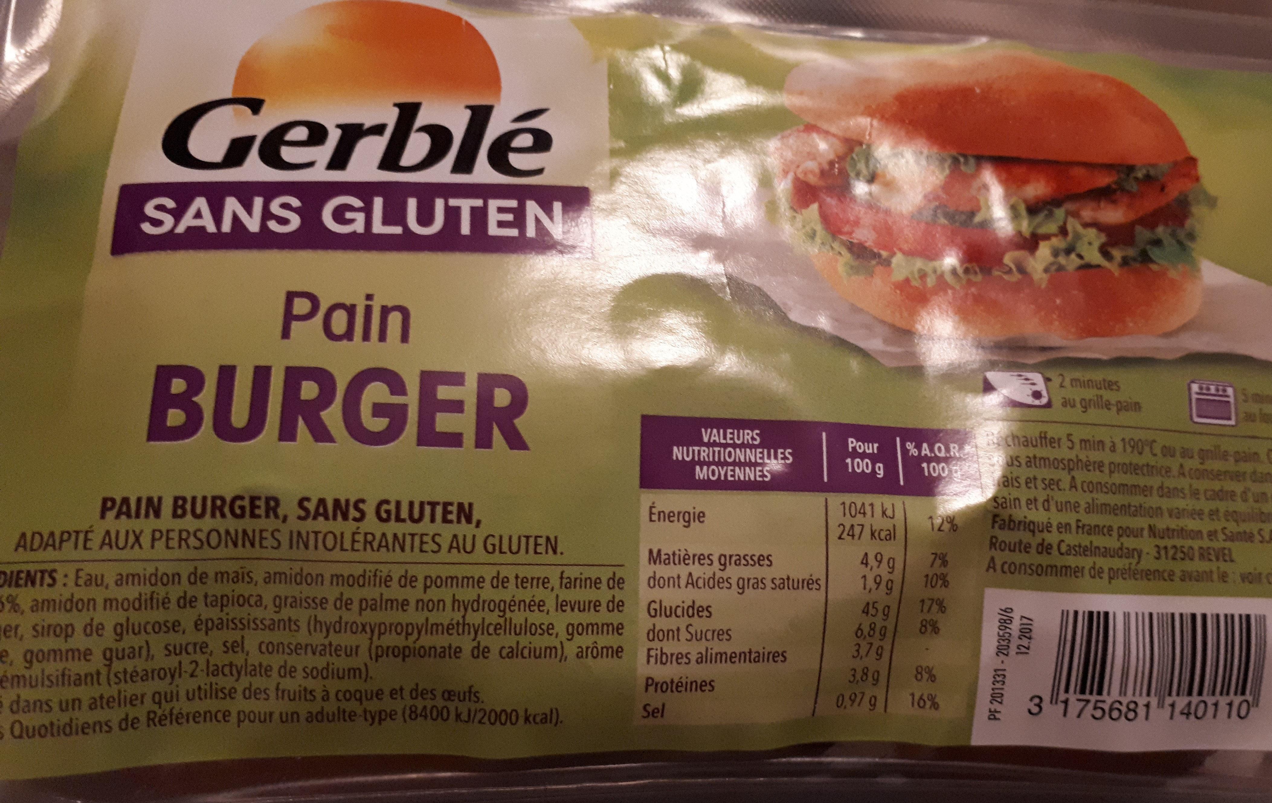 Pain burger - Produit - fr