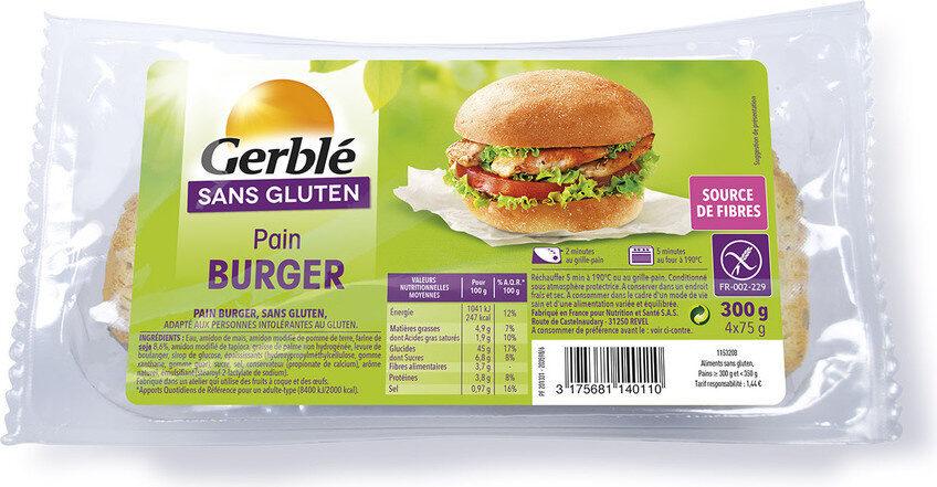 Pain burger Gerblé sans gluten - Product - fr