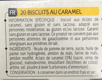 Biscuits Éclats de Caramel - Ingredients