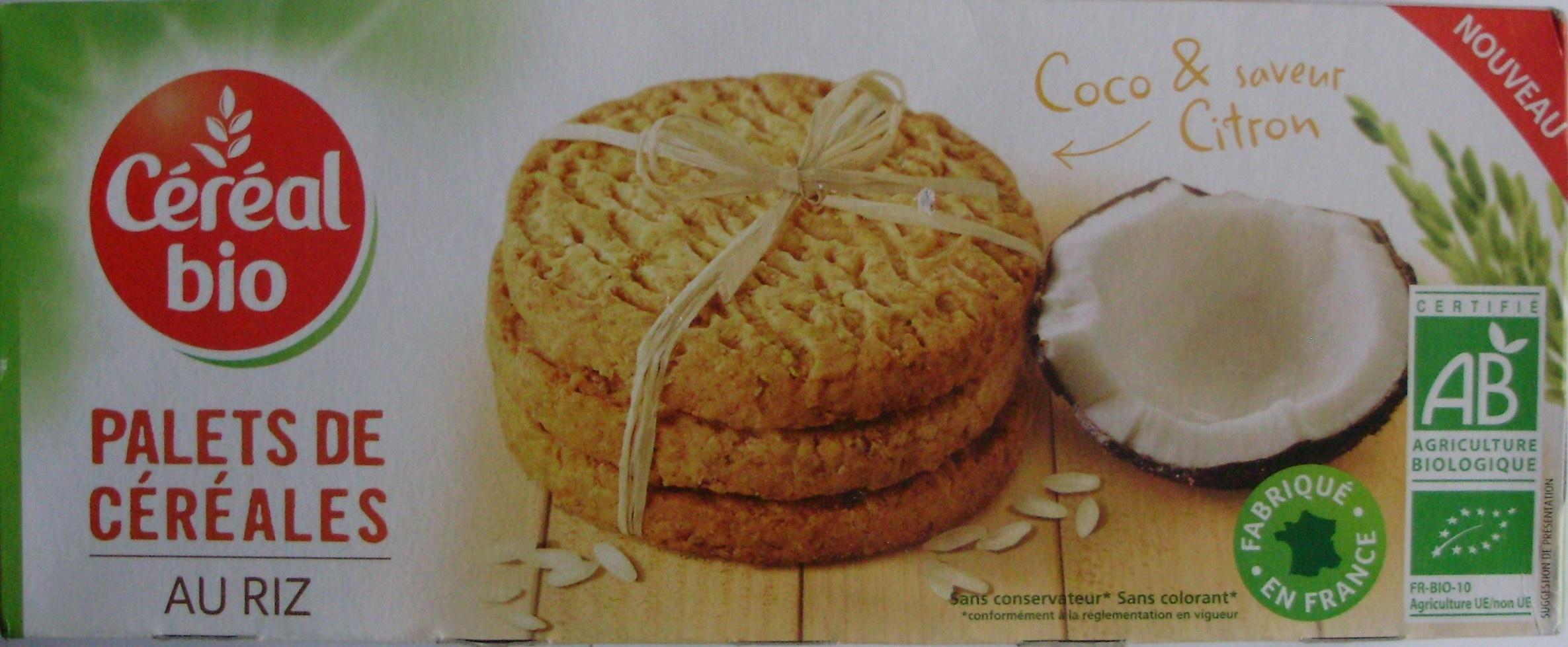 Palets de Céréales au Riz Coco & saveur Citron Bio - Product