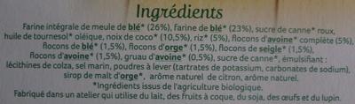Palets de Céréales au Riz Coco & saveur Citron Bio - Ingredients