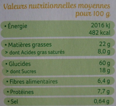 Palets de céréales au riz - Informations nutritionnelles - fr