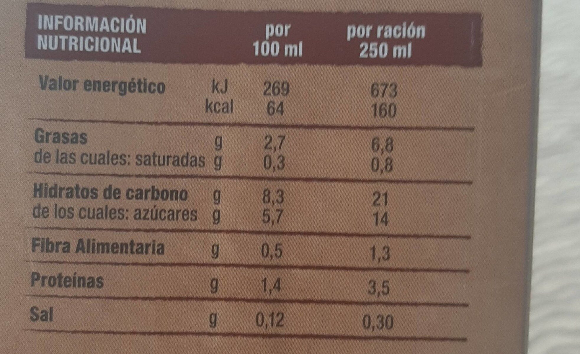 Avena almendras - Información nutricional - es