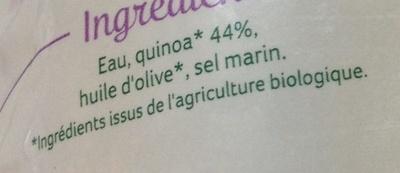 Quinoa au naturel - Ingrédients