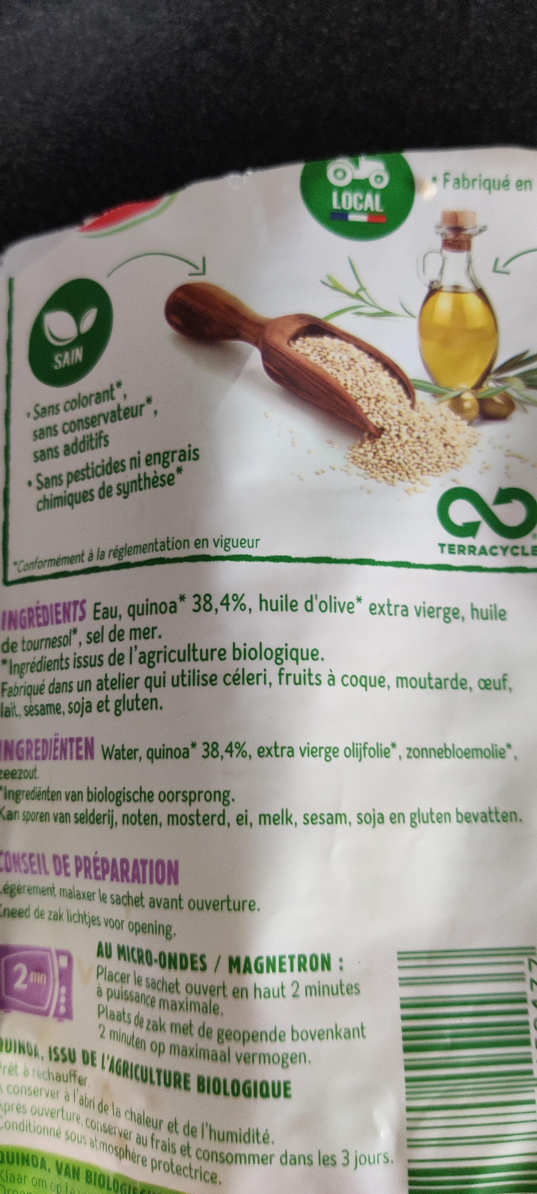 Quinoa au naturel - Ingredienti - fr