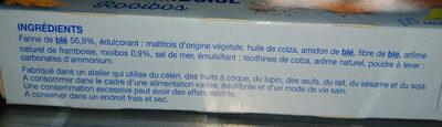 Sablé saveur framboise rooibos - Ingrédients - fr