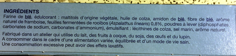 Sablé saveur framboise rooibos - Ingrediënten