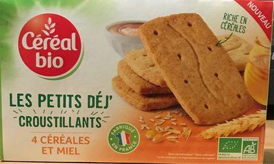 Les petits déj' croustillants - 4 céréales et miel - Produit