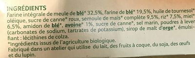 Les petits déj' croustillants - 4 céréales et miel - Ingrédients - fr