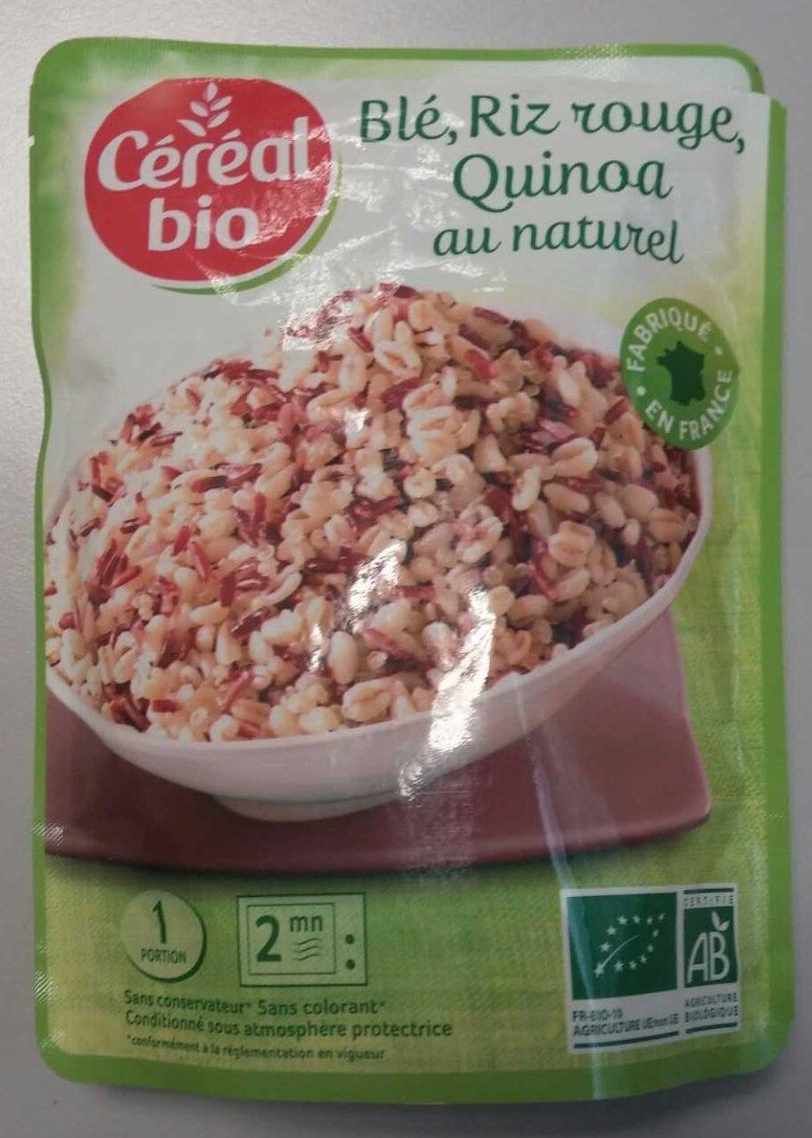 Blé, Riz rouge, Quinoa au naturel - Produit