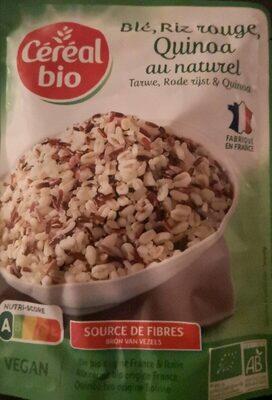 Blé riz rouge quinoa au naturel - Prodotto - fr